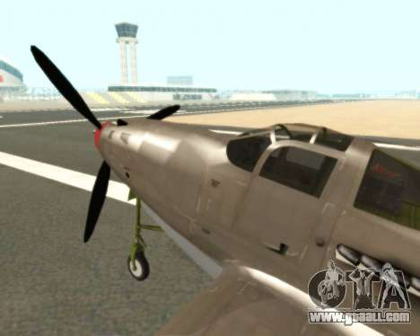 Aircobra P-39N for GTA San Andreas back left view