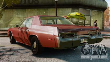 Dodge Monaco 1974 for GTA 4 left view