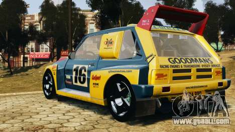 MG Metro 6r4 for GTA 4 left view
