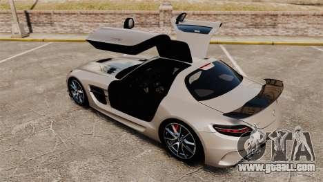 Mercedes-Benz SLS AMG Black Series 2014 for GTA 4 upper view