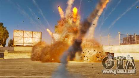 The new setting of fires and explosions for GTA 4 second screenshot