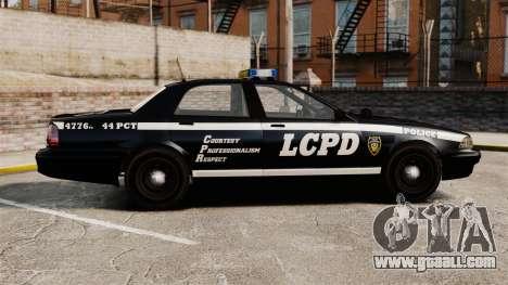 GTA V Vapid Police Cruiser [ELS] for GTA 4 left view