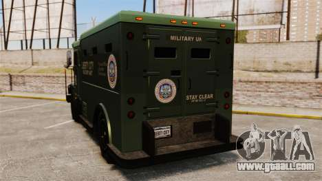 Military Enforcer for GTA 4 back left view