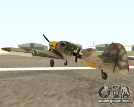 Bf-109 G6 v1.0 for GTA San Andreas right view