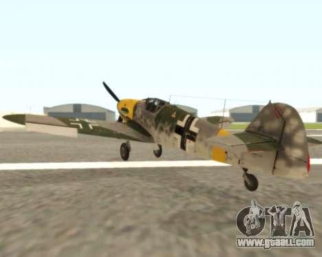 Bf-109 G6 v1.0 for GTA San Andreas right view