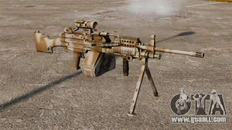 Light machine gun Mk 48 for GTA 4