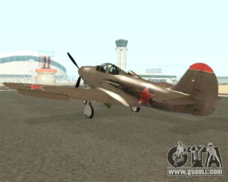 Aircobra P-39N for GTA San Andreas right view