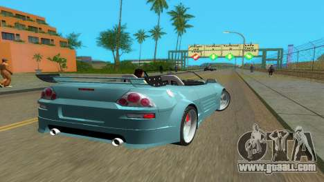 Mitsubishi Eclipse GT 2001 for GTA Vice City back left view