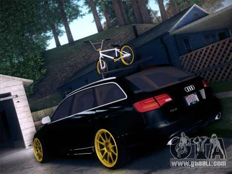 Audi Avant RS6 LowStance for GTA San Andreas back left view