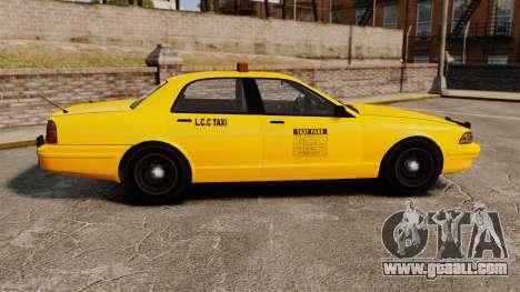 GTA V Gen Vapid LCC Taxi for GTA 4 left view
