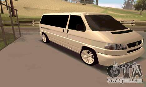 Volkswagen T4 for GTA San Andreas left view