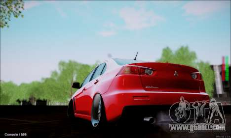 Mitsubishi Lancer Evolution X Stance Work for GTA San Andreas left view