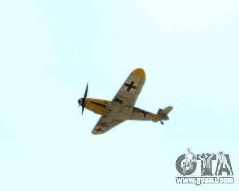 Bf-109 G6 v1.0 for GTA San Andreas inner view