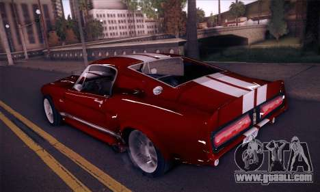 Shelby GT500 E v2.0 for GTA San Andreas back left view