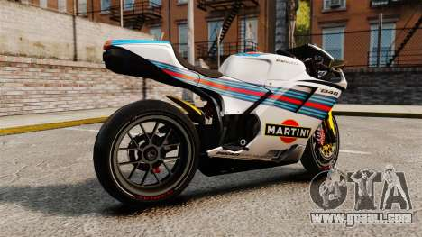 Ducati 848 Martini for GTA 4 left view