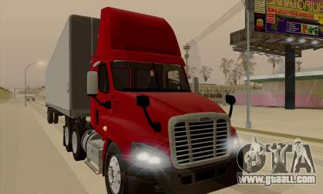 Freghtliner Cascadia Daycab 6x4 for GTA San Andreas left view
