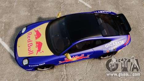 Porsche 911 Sport Classic 2010 Red Bull for GTA 4 right view