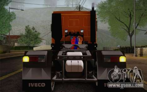 Iveco EuroTech 6x4 Doors for GTA San Andreas back view