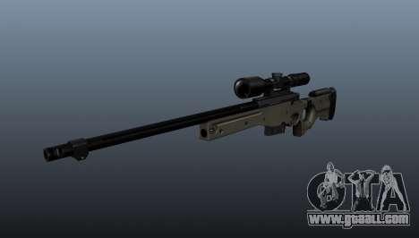 AI Arctic Warfare sniper rifle Police for GTA 4