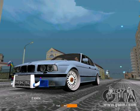 BMW E34 JDM for GTA San Andreas left view