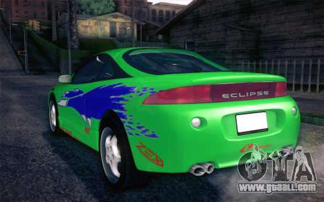 Mitsubishi Eclipse Fast and Furious for GTA San Andreas upper view
