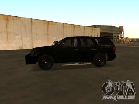 GMC Yukon ATTF for GTA San Andreas back view