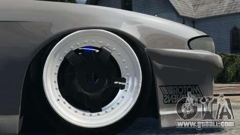 Nissan S14 Zenki JDM v2.0 for GTA 4 back view