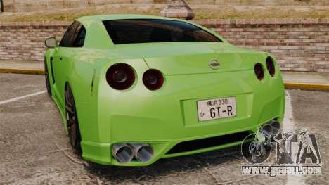 Nissan GT-R SpecV 2010 for GTA 4 back left view