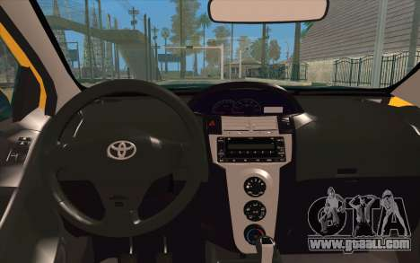 Toyota Vios 2008 for GTA San Andreas back view