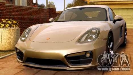 Porsche Cayman 981 S v2.0 for GTA 4 right view