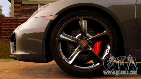 Porsche Cayman 981 S v2.0 for GTA 4 inner view