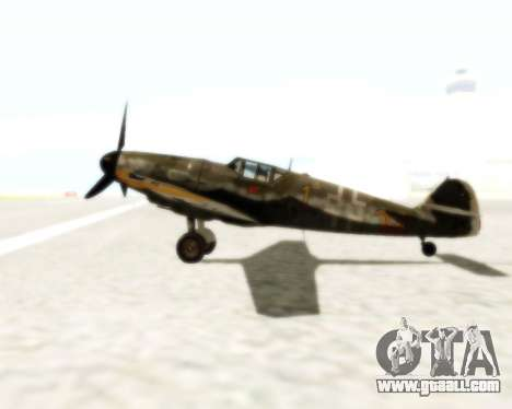 Bf-109 G6 for GTA San Andreas back view