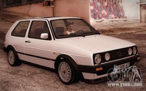 Volkswagen Golf Mk2 GTI for GTA San Andreas