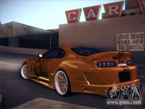 Toyota Supra Top Secret V12 for GTA San Andreas right view