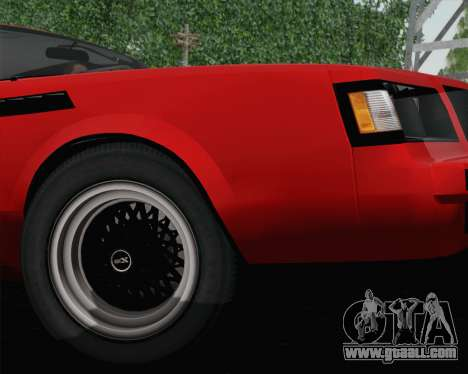 Buick GNX 1987 for GTA San Andreas inner view