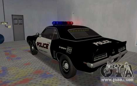 Chevrolet Camaro SS Police for GTA San Andreas right view