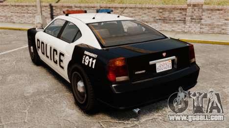GTA V Buffalo Police for GTA 4 back left view