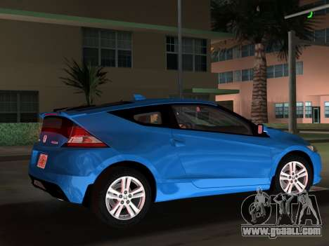 Honda CR-Z 2010 for GTA Vice City upper view