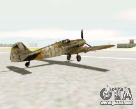 Bf-109 G6 for GTA San Andreas left view