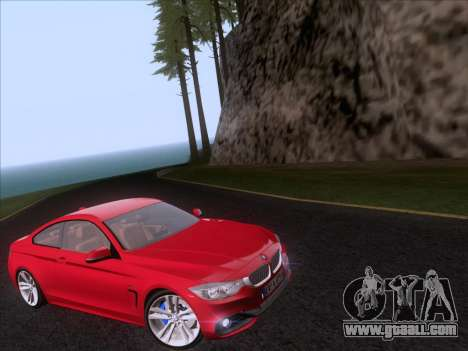 BMW F32 4 series Coupe 2014 for GTA San Andreas right view