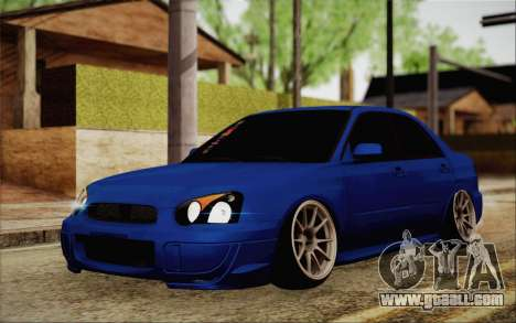 Subaru Impreza JDM for GTA San Andreas back view