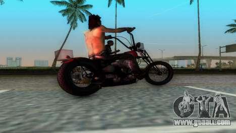 Harley Davidson Shovelhead for GTA Vice City right view