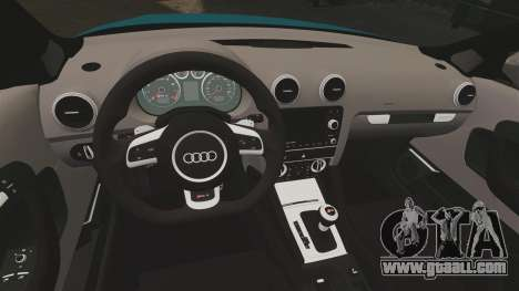 Audi RS3 Sportback [Typ 8PA] 2011 for GTA 4 inner view