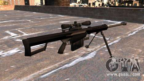 Barrett M82A1 sniper rifle Light Fifty for GTA 4 second screenshot
