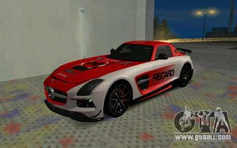 Mercedes-Benz SLS AMG 2013 Black Series for GTA San Andreas inner view