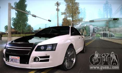 GTA V Tailgater for GTA San Andreas upper view