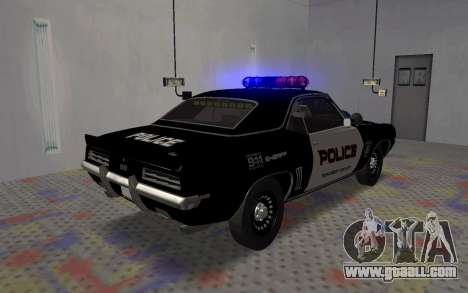 Chevrolet Camaro SS Police for GTA San Andreas back left view