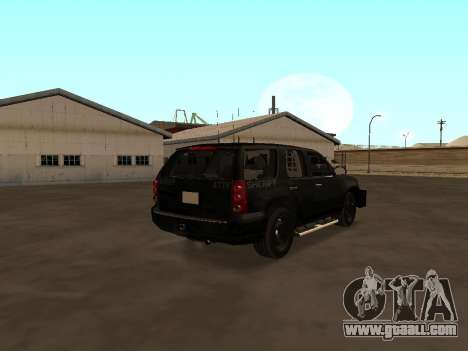 GMC Yukon ATTF for GTA San Andreas back left view