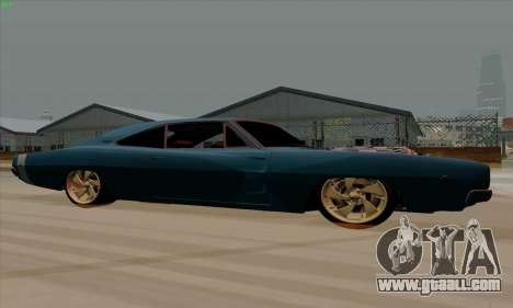Dodge Charger 1969 Big Muscle for GTA San Andreas back left view