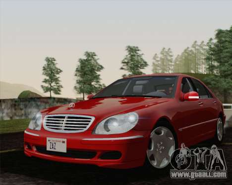 Mercedes-Benz S600 Biturbo 2003 for GTA San Andreas right view